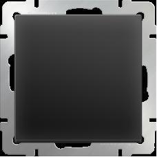 Выключатель одноклавишный c подсветкой (черный матовый) WL08-SW-1G-LED WERKEL