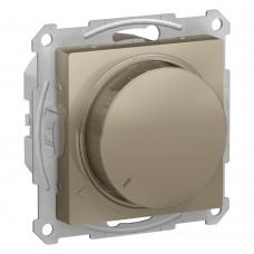 Светорегулятор (диммер) поворотно-нажимной, 315Вт, мех., ШАМПАНЬ ATLASDESIGN