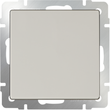 Выключатель одноклавишный проходной (слоновая кость) WL03-SW-1G-2W--ivory WERKEL
