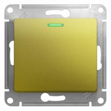 Выключатель 1-клавишный с подсветкой, сх.1а, механизм, ФИСТАШКОВЫЙ GLOSSA