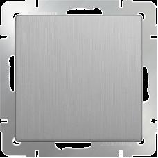 Выключатель одноклавишный проходной (серебрянный рифленый) WL09-SW-1G-2W WERKEL