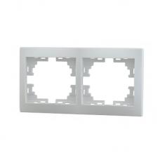 Рамка 2-ая горизонтальная б/вст белый MIRA