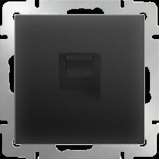 Розетка Ethernet RJ-45 (черный матовый) WL08-RJ-45 WERKEL