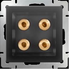 Акустическая розетка (черный матовый) WL08-AUDIOх4 WERKEL