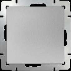 Выключатель одноклавишный проходной (серебрянный) WL06-SW-1G-2W WERKEL
