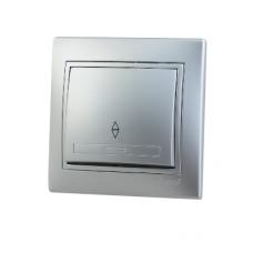 Выключатель проходной метал серый со вставкой MIRA