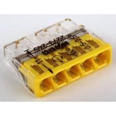 Клемма 2273-245 5-ти провод.соединительная для распред.коробок с пастой Alu-Plus