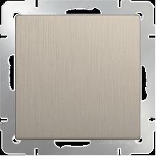 Выключатель одноклавишный проходной (шампань рифленый) WL10-SW-1G-2W WERKEL