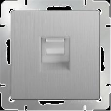 Розетка (серебро рифленый) Ethernet RJ-45 WL09-RJ-45 WERKEL