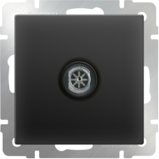 ТВ-розетка оконечная (черный матовый) WL08-TV WERKEL