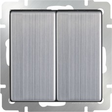 Выключатель двухклавишный (глянцевый никель) WL02-SW-2G WERKEL