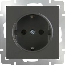 Розетка с заземлением (серо-коричневый) WL07-SKG-01-IP20 WERKEL