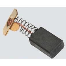 Электроугольная щетка 6х11х17мм (пружина, прямоугольный пятак-уши). Подходит для Интерскол ПЦ 16Т-01