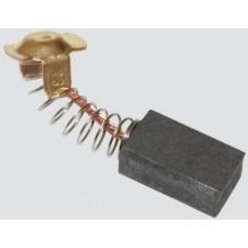 Электроугольная щетка 7х11х18мм (пружина, пятак-уши). Подходит для Интерскол ДП 1600Wt Titan