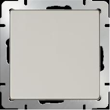Выключатель одноклавишный с подсветкой (слоновая кость) WL03-SW-1G-LED-ivory WERKEL