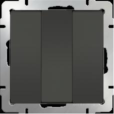 Выключатель трехклавишный (серо-коричневый) WL07-SW-3G WERKEL