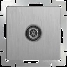ТВ-розетка оконечная (серебрянный рифленый) WL09-TV WERKEL