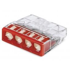 Клемма 2273-244 4-х провод.соединительная для распред.коробок с пастой Alu-Plus